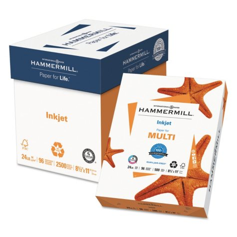 "Hammermill - Inkjet Paper, 24lb, 96 Bright, 8-1/2 x 11"" - Ream"