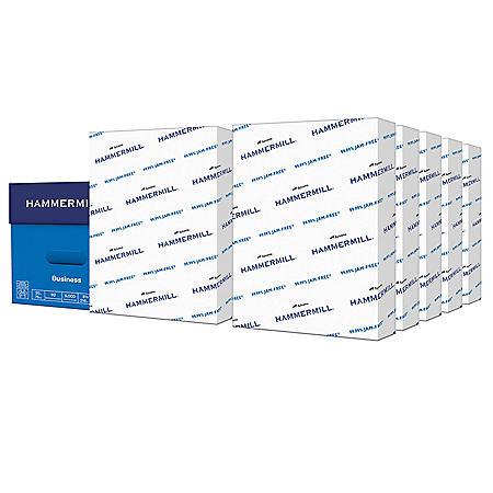"Hammermill Business Copy Paper, 20lb, 92 Bright, 8 1/2"" x 11"", 10 Ream Case"