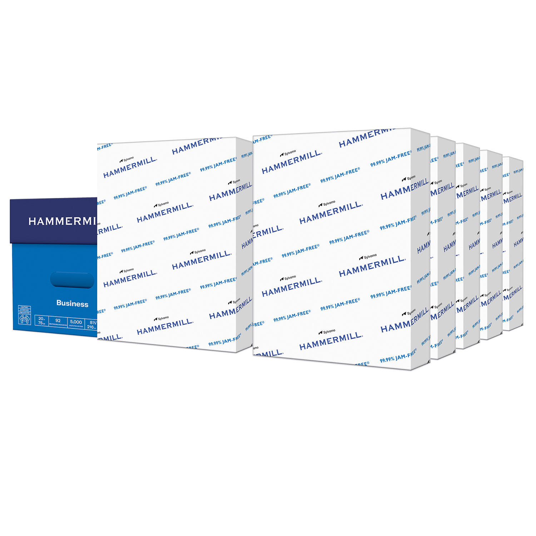 Hammermill Business Copy Paper, 20lb, 92 Bright, 8 1/2