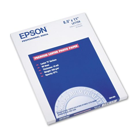 "Epson - Ultra Premium Photo Paper, Inkjet, 8-1/2 x 11"", Luster - 50 Sheets"