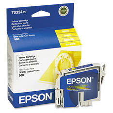 Epson T033 Series Inkjet Printer Cartridge, Yellow