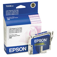 Epson T033 Series Inkjet Printer Cartridge, Light Magenta