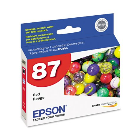 Epson T087720 UltraChrome Hi-Gloss 2 Ink, Red