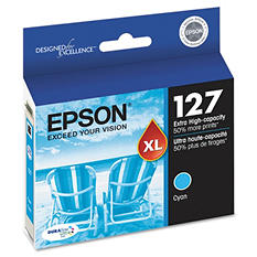 Epson 127 Series Extra High-Yield Ink, Cyan (T127220)