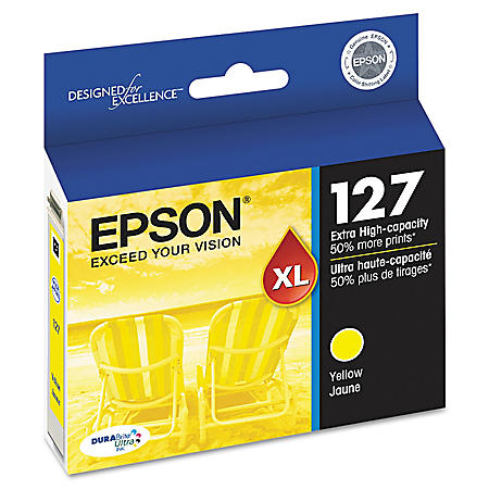 Epson 127 Series Extra High-Yield Ink, Yellow (T127420)
