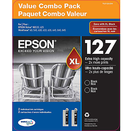 Epson DuraBrite 127XL Combo Pack, Black (2 pk.)