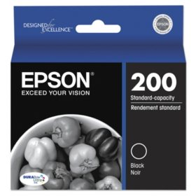 Epson T200120S (200) DURABrite Ultra Ink, 175 Page-Yield, Black