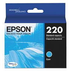 Epson® T220220 (220) DURABrite Ultra Ink, Cyan