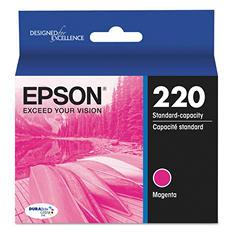 Epson® T220320 (220) DURABrite Ultra Ink, Magenta