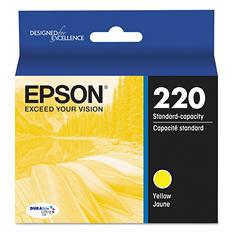 Epson® T220420 (220) DURABrite Ultra Ink, Yellow