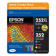 Epson T252 DURABrite Ultra Ink Club Pack