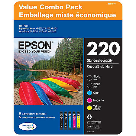 Epson T220 Series Ink Combo Pack