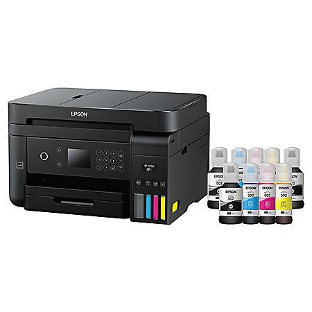 Epson WorkForce ET-3750 Special Edition EcoTank All-in-One Printer with Bonus Black Ink
