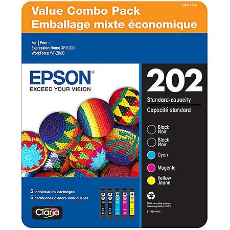Epson T202 Standard Capacity Ink Cartridge Clubpack, 2 Black & Cyan/Magenta/Yellow