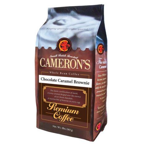 Cameron's Chocolate Caramel Brownie Whole Bean Coffee - 2 lbs.