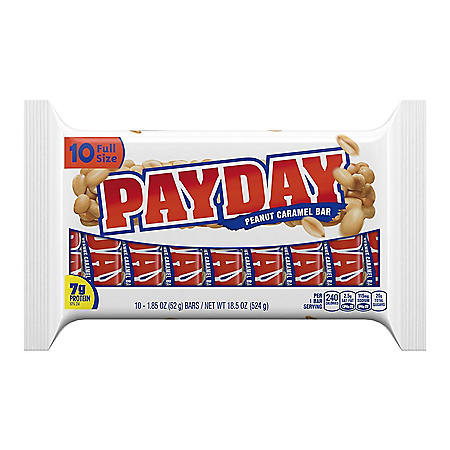 Payday Peanut Caramel Candy Bars (1.85 oz., 10 pk.)