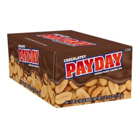 Payday Chocolatey Covered Peanut Caramel Standard Candy Bars (24 pk.)