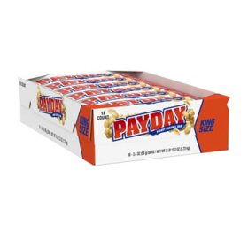 PAYDAY King Size Peanut Caramel Bars (3.4 oz., 18 ct.)