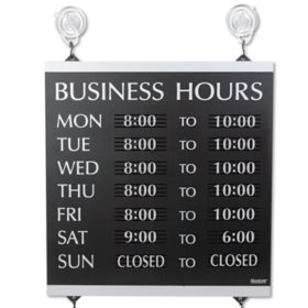 Century Series Hours of Operation Sign