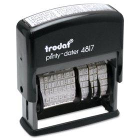 Trodat - Trodat Economy 12-Message Stamp, Dater, Self-Inking, 2 x 3/8 -  Black