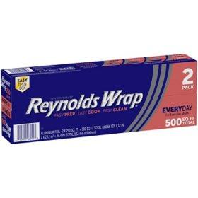 """Reynolds Wrap 12"""" Aluminum Foil, 250 sq. ft (2 ct.)"""