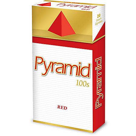 Pyramid Red 100s Box (20 ct., 10 pk.)