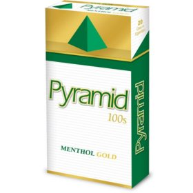 Pyramid Menthol Gold 100s Box (20 ct., 10 pk.)