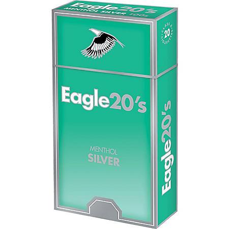 Eagle 20s Menthol Silver Kings Box (20 ct., 10 pk.)