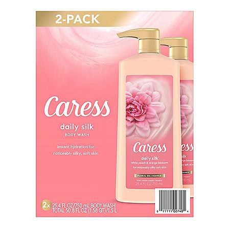 Caress Daily Silk Body Wash (25.4 fl. oz., 2 pk.)