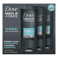 Dove Men + Care Body and Face Wash, Clean Comfort (18 oz., 3 pk.)