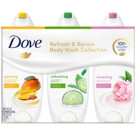 Dove Refresh & Renew Body Wash Collection (24 oz., 3 pk.)