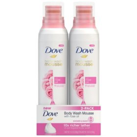 Dove Body Wash Mousse with Rose Oil (10.3 fl. oz., 2 pk.)