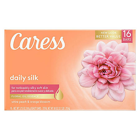 Caress Silkening Beauty Bar, Daily Silk (3.75 oz., 16 ct.)