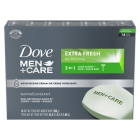 Dove Men+Care Body and Face Bar Extra Fresh (3.75 oz., 14 ct.)