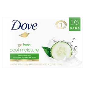Dove Go Fresh Cool Moisture Beauty Bar (3.75 oz., 16 ct.)