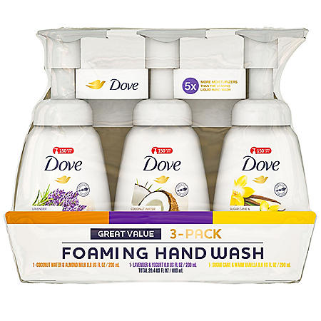 Dove Foaming Liquid Hand Soap (6.8 fl. oz., 3 pk.)