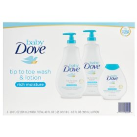 Baby Dove Wash and Lotion (2 - 20 fl. oz. & 1 - 6.5 fl. oz.)