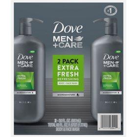 Dove Men+Care Body and Face Wash Extra Fresh (30 oz., 2 pk.)