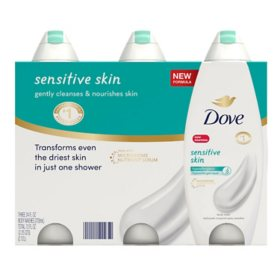 Dove Nourishing Body Wash, Sensitive Skin (24 fl. oz., 3 pk.)