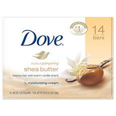 Dove Shea Butter Soap Bars (4 oz., 14 bars)