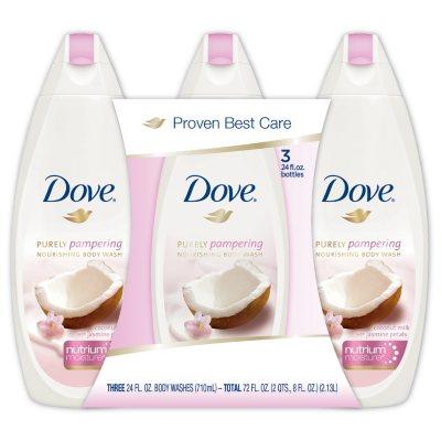 Dove Purely Pampering Body Wash Coconut Milk 24 Fl Oz 3 Pk Sam S Club