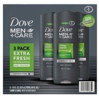 Dove Men + Care Body and Face Wash, Extra Fresh (18 oz., 3 pk.)