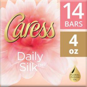 Caress Silkening Beauty Bar, Daily Silk (4 oz., 14 ct.)