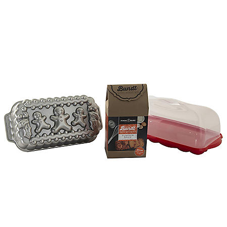 Nordic Ware Gingerbread Family Quickbread Baking Set (Assorted Flavors)