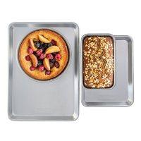 """Nordic Ware Naturals Set: Half Sheet, Quarter Sheet, 9"""" Round Cake Pan & 1.5 lb. Loaf Pan"""