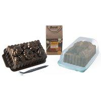 Nordic Ware Fall Loaf Bundle: Harvest Bounty Loaf, Loaf Keeper, Salted Caramel Quick Bread Mix & Bundt Cleaning Tool