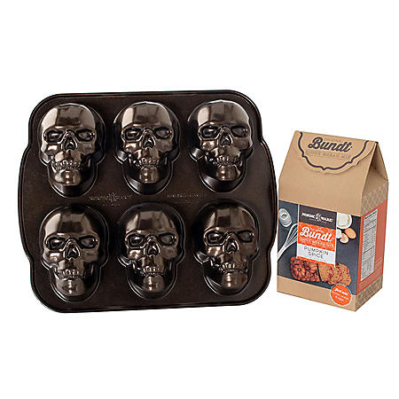 Nordic Ware Haunted Skull Cakelet Baking Set