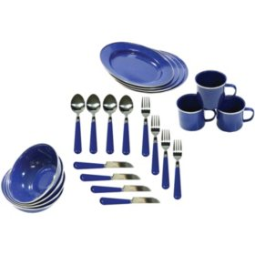 Enamel Camping Tableware Set (24 pc. set)