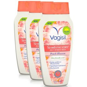 Vagisil Scentsitive Scents Vaginal Wash, Peach Blossom (12 fl. oz., 3 pk.)
