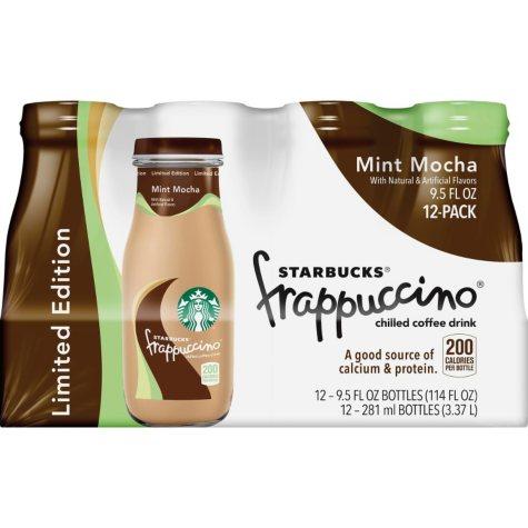 Starbuck's Frappuccino Mint Mocha - 9.5 oz. bottles - 12 pk.
